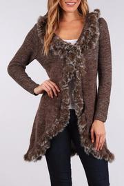 People Outfitter Open Fur Cardigan - Product Mini Image