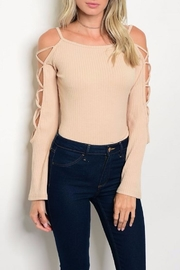 People Outfitter Open Shoulder Bodysuit - Front cropped
