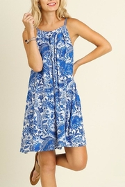 People Outfitter Paisley Blue Dress - Front cropped