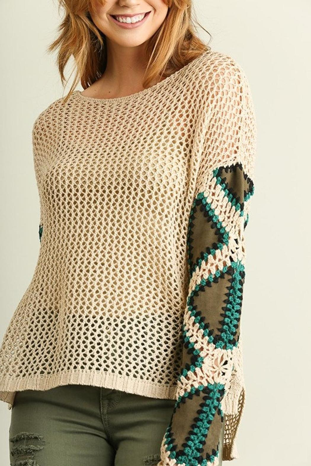 People Outfitter Patch Me Sweater - Back Cropped Image