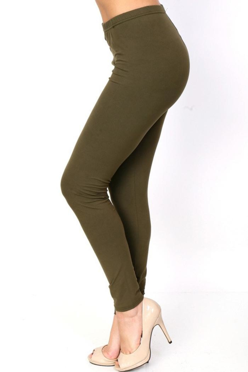 People Outfitter Peach Skin Legging - Front Cropped Image
