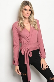 People Outfitter Pink-Blush Wrap Top - Product Mini Image