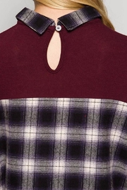 People Outfitter Plaid Knit Tunic - Front cropped