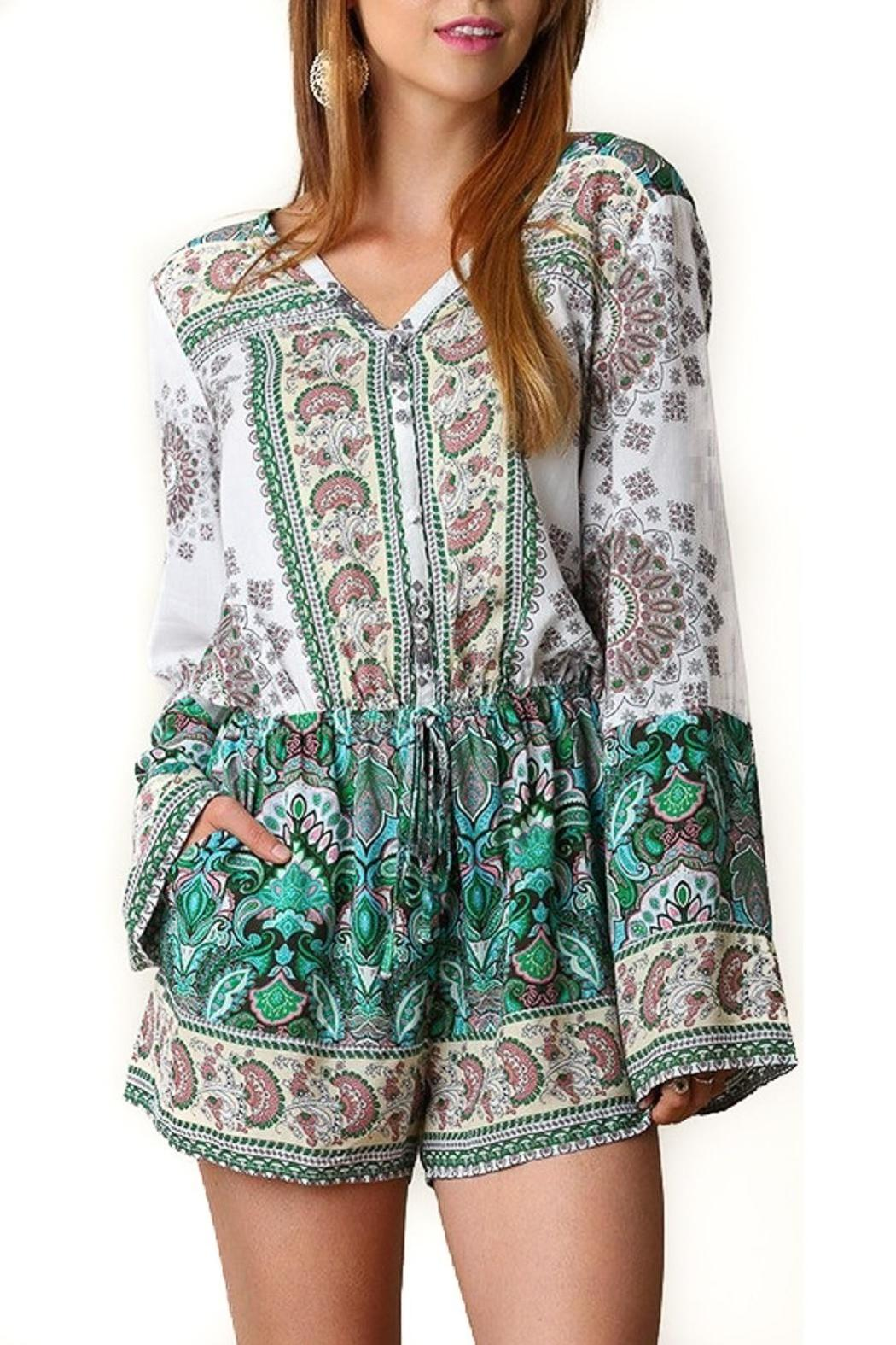 People Outfitter Pretty And Free Romper - Main Image