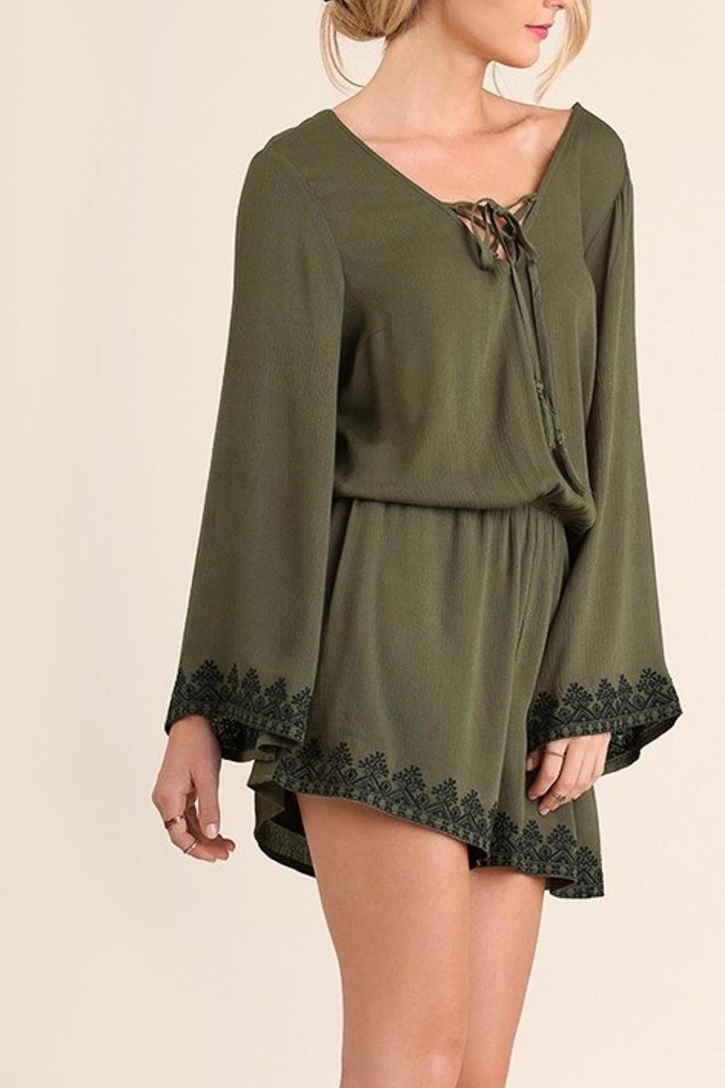 People Outfitter Pretty n Free Romper - Back Cropped Image
