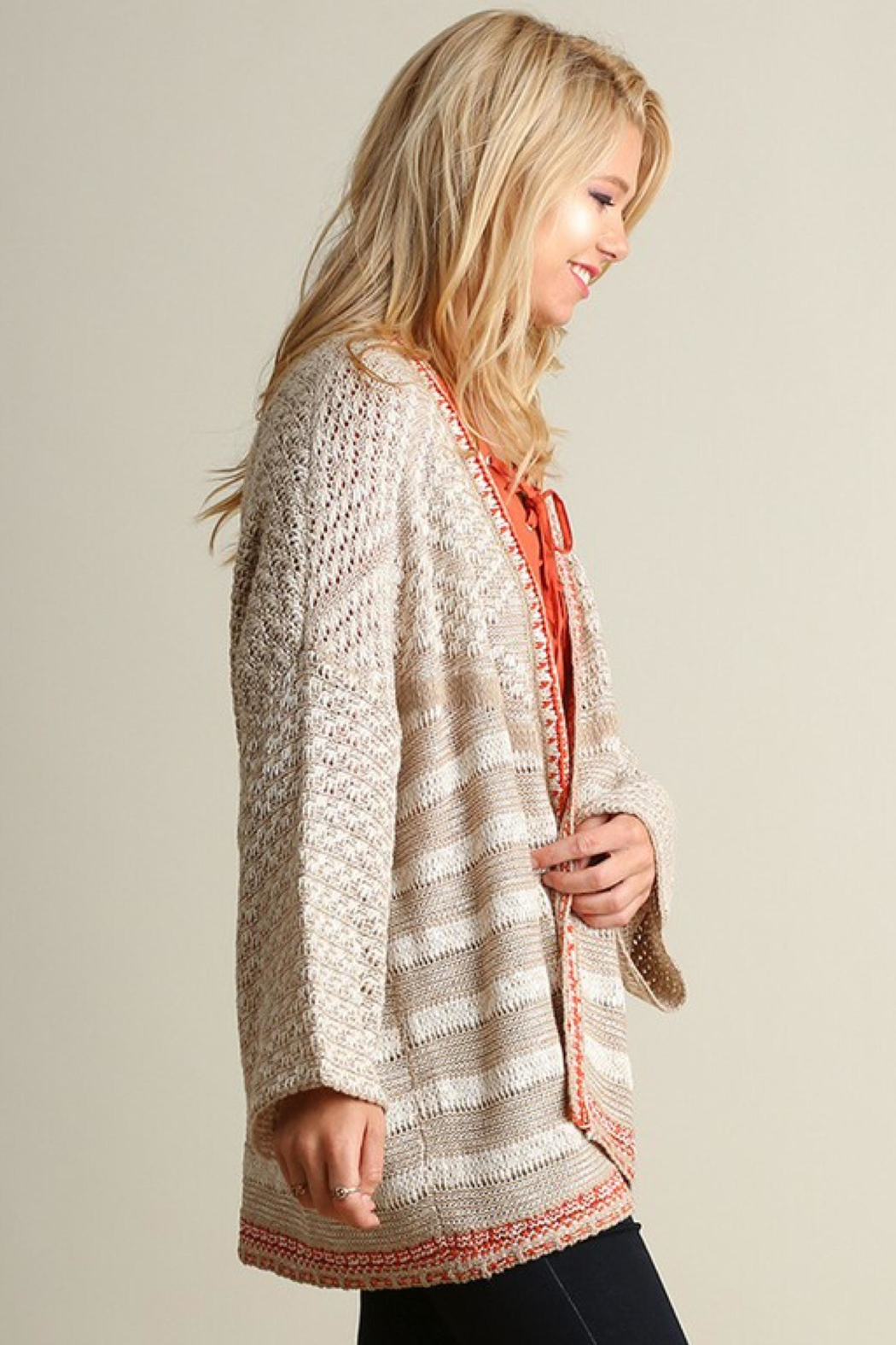 People Outfitter Relaxed-Fit Knit Cardigan - Front Full Image