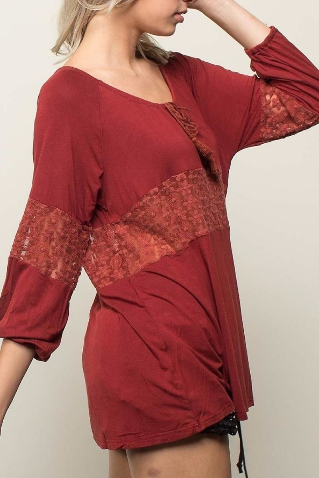 People Outfitter Retro Romance Top - Front Full Image