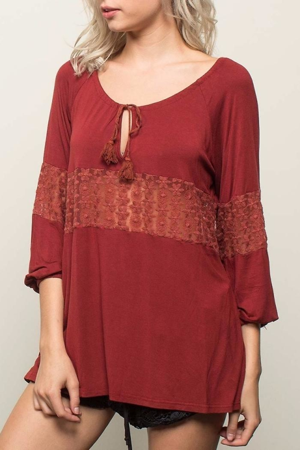 People Outfitter Retro Romance Top - Main Image