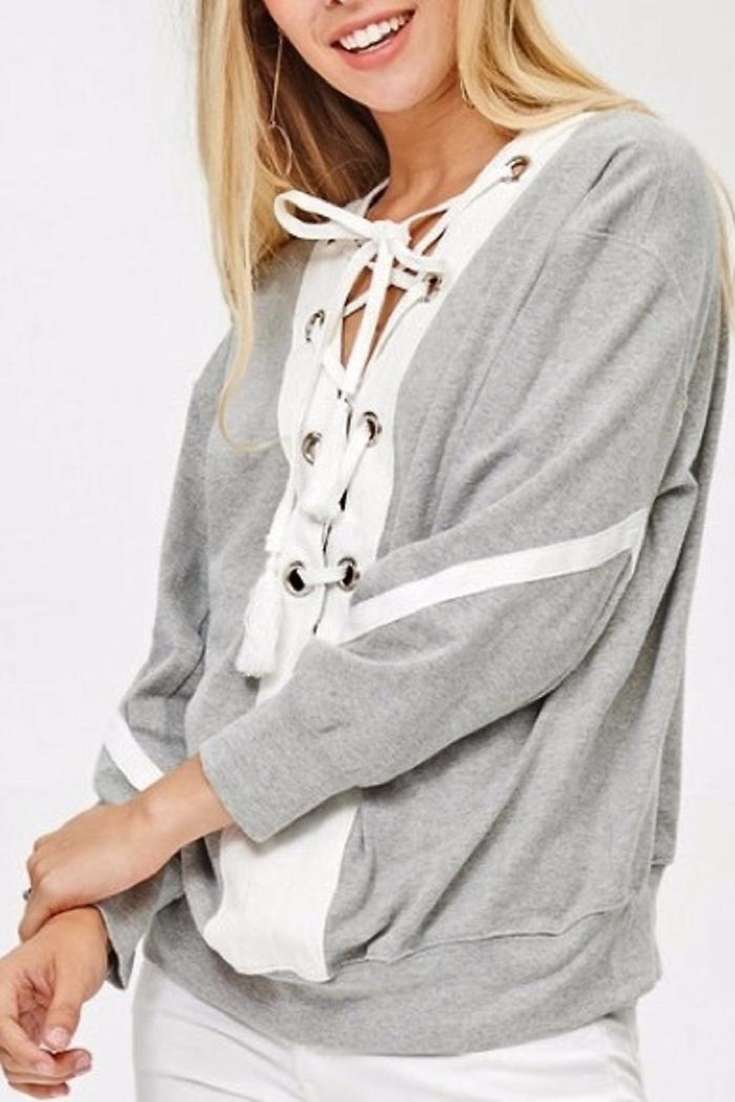 People Outfitter Reversible Sweatshirt - Back Cropped Image