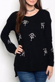 People Outfitter Rhinestone Sweater - Product Mini Image