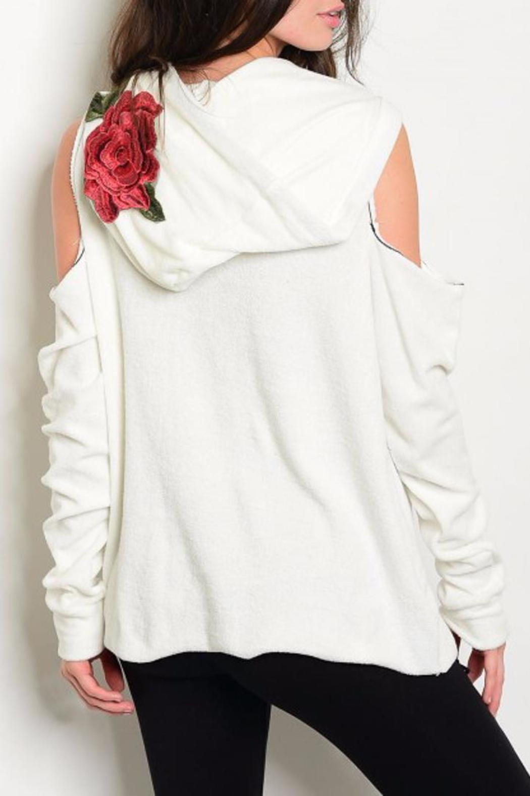 People Outfitter Rock'n Roses Sweatshirt - Front Full Image
