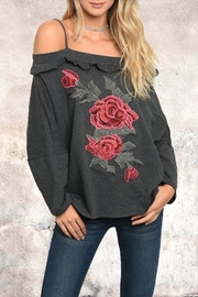 People Outfitter Rose Patch Sweatshirt - Product Mini Image