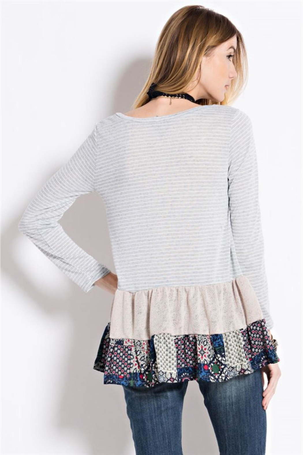 People Outfitter Ruffle Hem Tunic Top - Side Cropped Image
