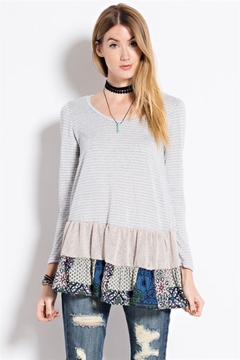People Outfitter Ruffle Hem Tunic Top - Product List Image
