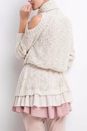 People Outfitter Ruffled Chunky Sweater - Other