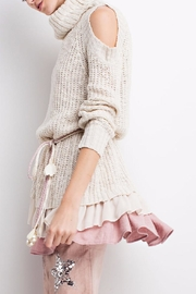 People Outfitter Ruffled Chunky Sweater - Front full body
