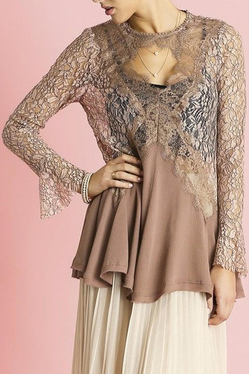 People Outfitter Secret Lace Tunic - Main Image