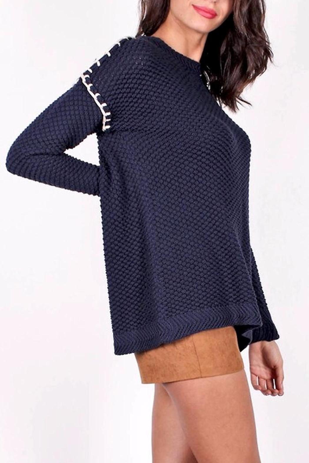 People Outfitter Shannon Open-Back Sweater - Front Full Image