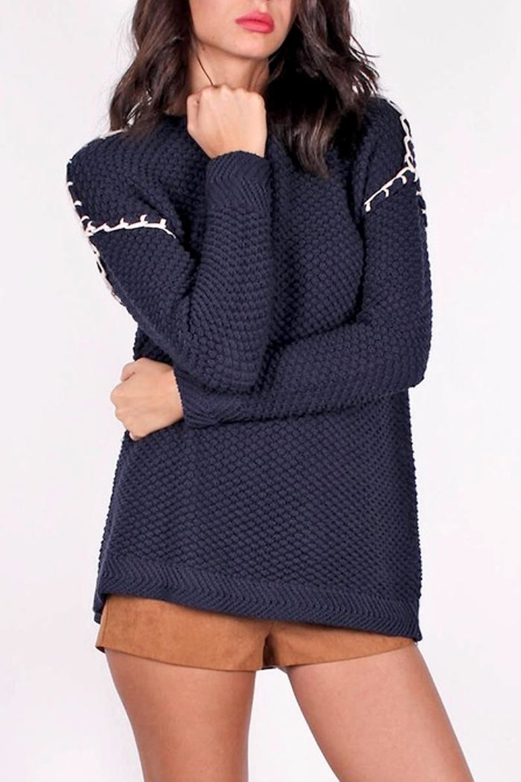 People Outfitter Shannon Open-Back Sweater - Main Image