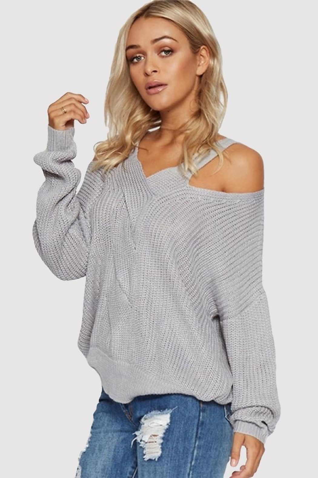 People Outfitter Silver Light Top - Back Cropped Image