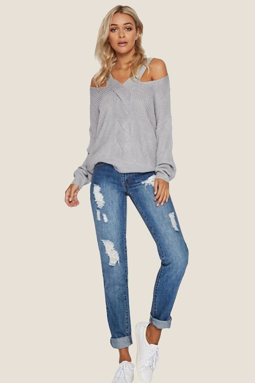 People Outfitter Silver Light Top - Front Full Image