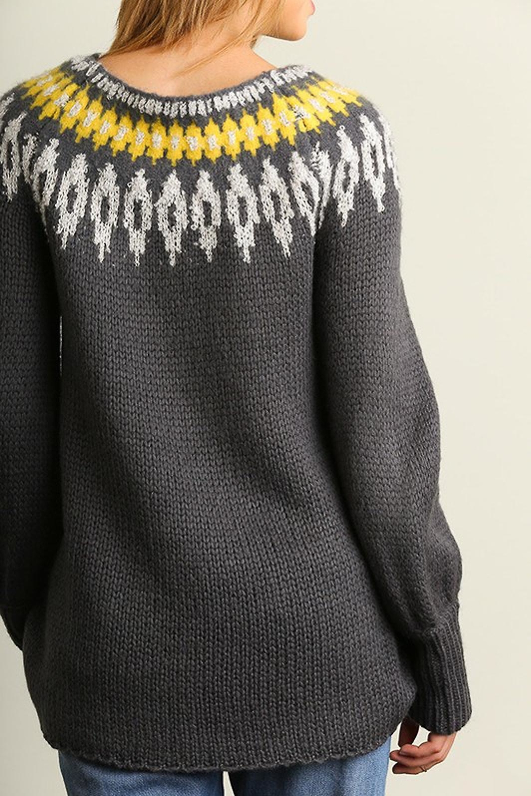 People Outfitter Snow Day Sweater - Back Cropped Image