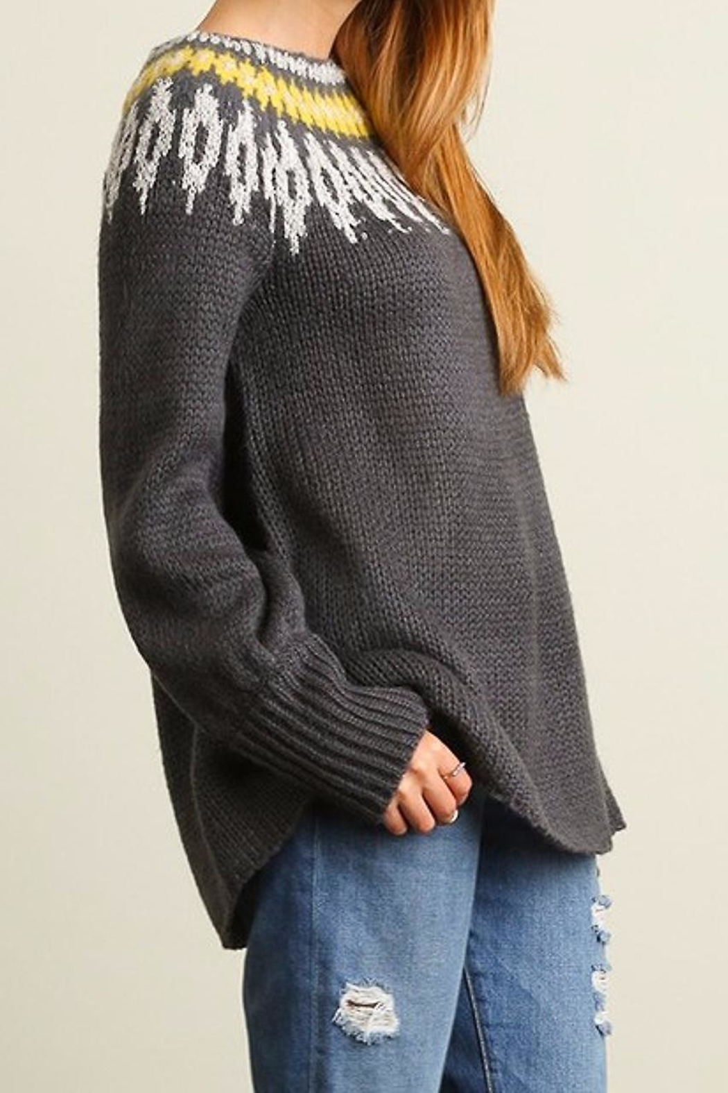 People Outfitter Snow Day Sweater - Side Cropped Image