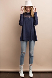 People Outfitter Stonewashed Navy Sweatshirt - Front full body