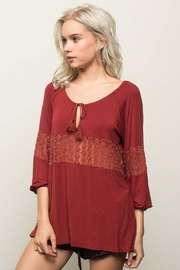 People Outfitter Stonewashed Red Top - Product Mini Image