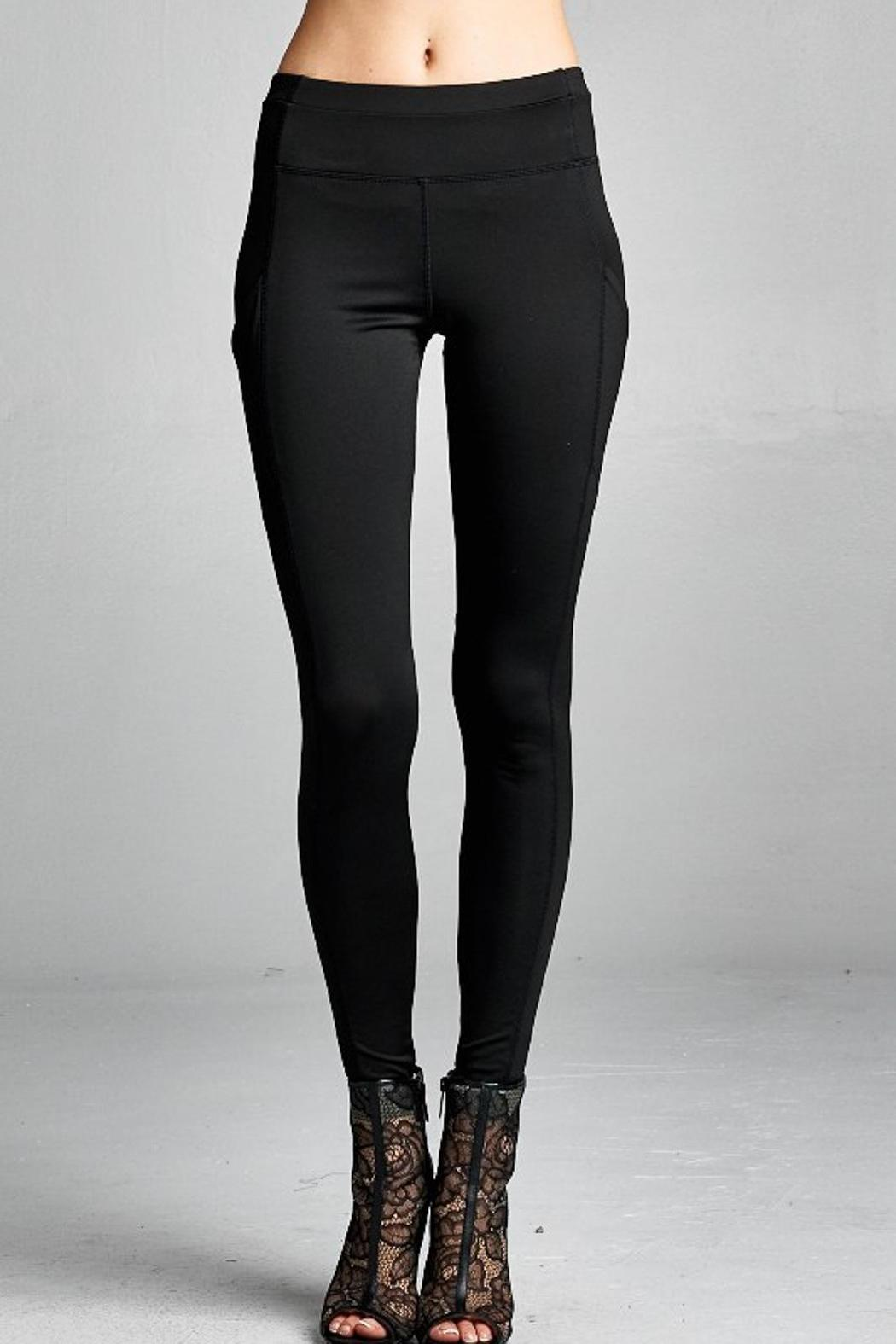People Outfitter Street Yoga Pants - Front Full Image