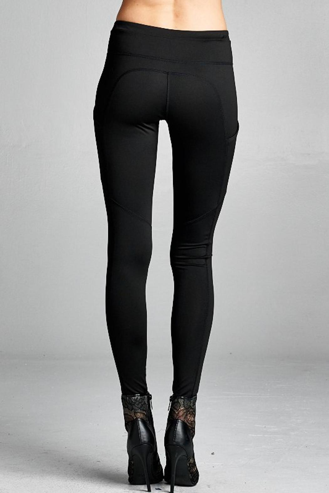 People Outfitter Street Yoga Pants - Back Cropped Image