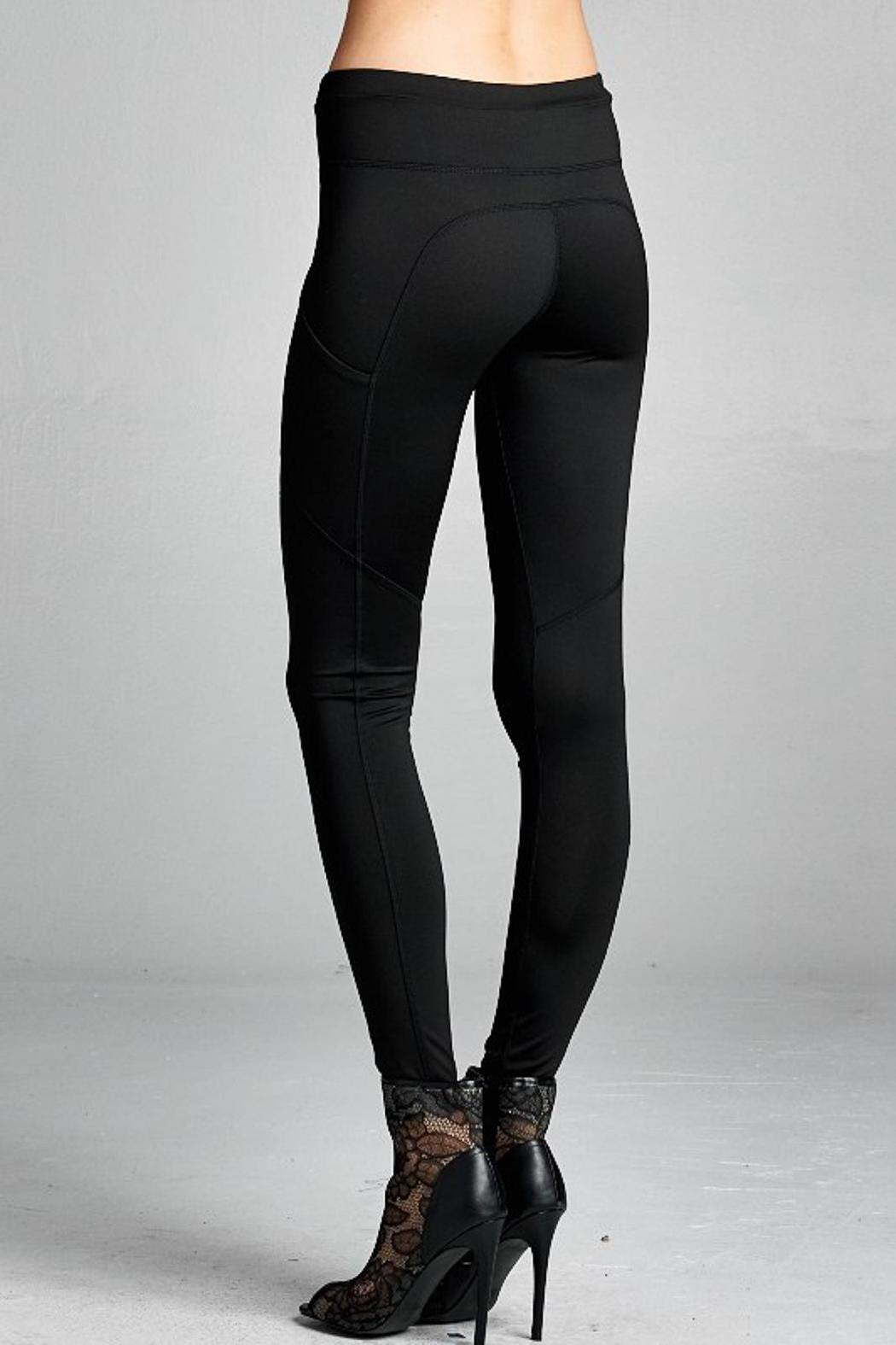 People Outfitter Street Yoga Pants - Side Cropped Image