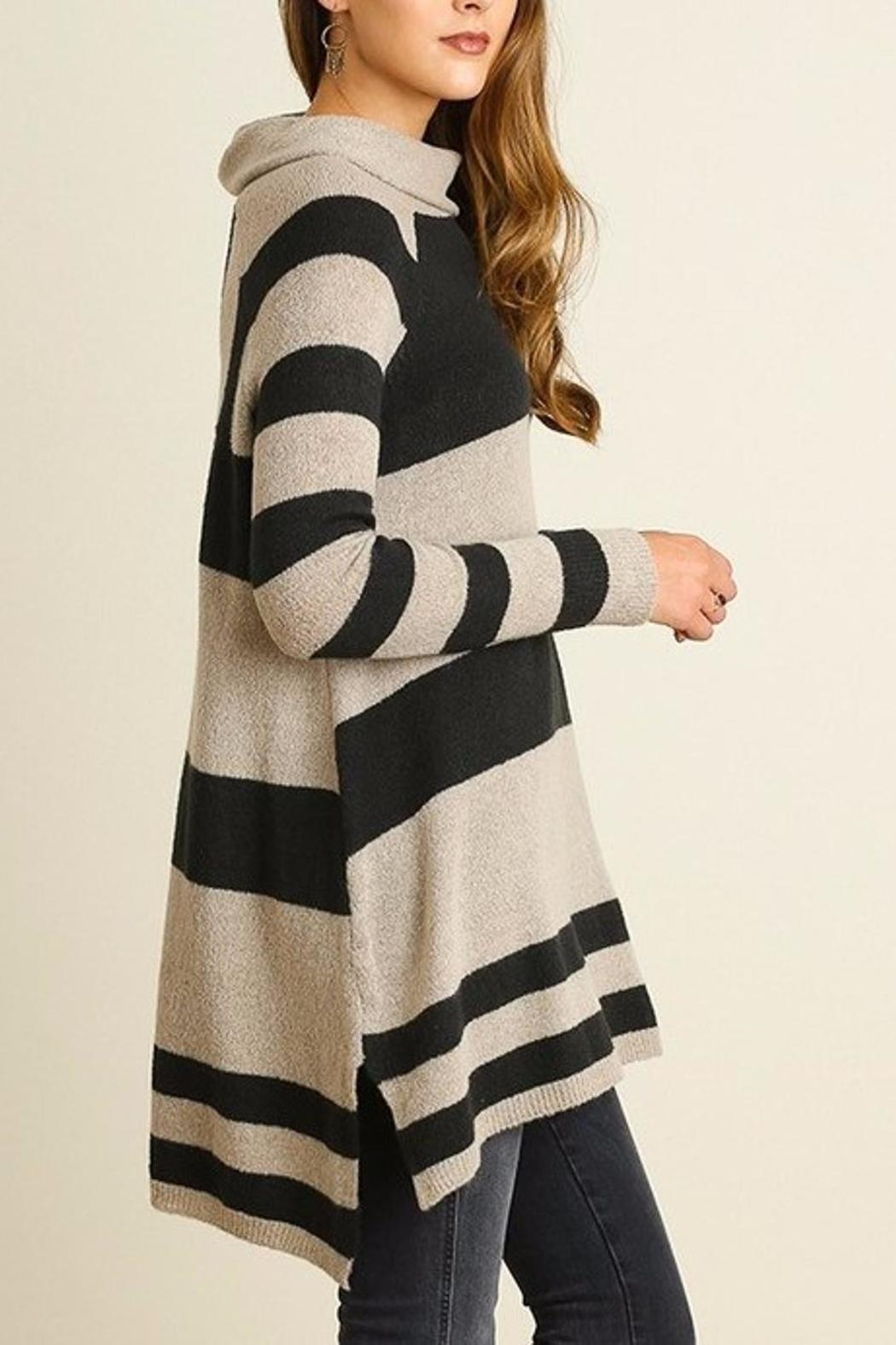 People Outfitter Stripe Knit Tunic - Side Cropped Image