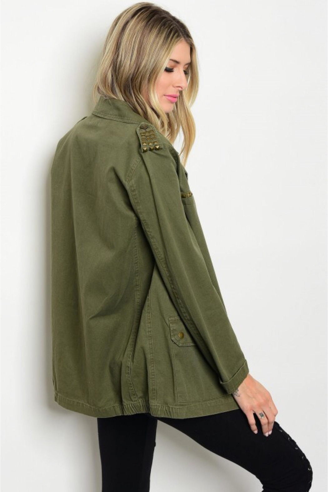People Outfitter Studded Military Jacket - Main Image
