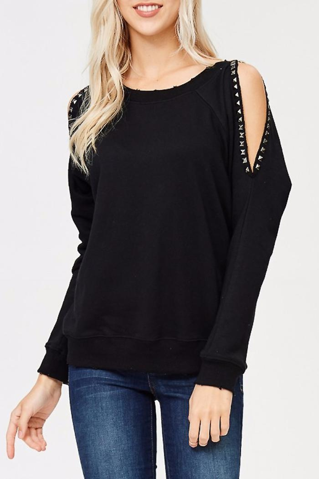 People Outfitter Studded Sweat Shirt - Main Image