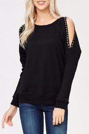 People Outfitter Studded Sweat Shirt - Product Mini Image