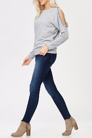 People Outfitter Studded Sweat Shirt - Front cropped