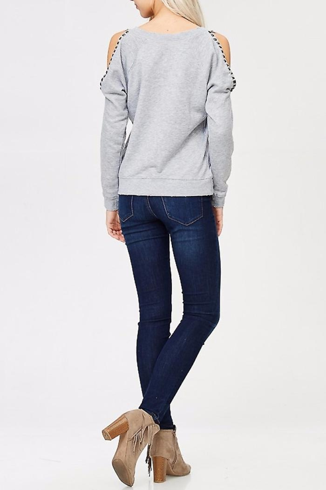 People Outfitter Studded Sweat Shirt - Front Full Image
