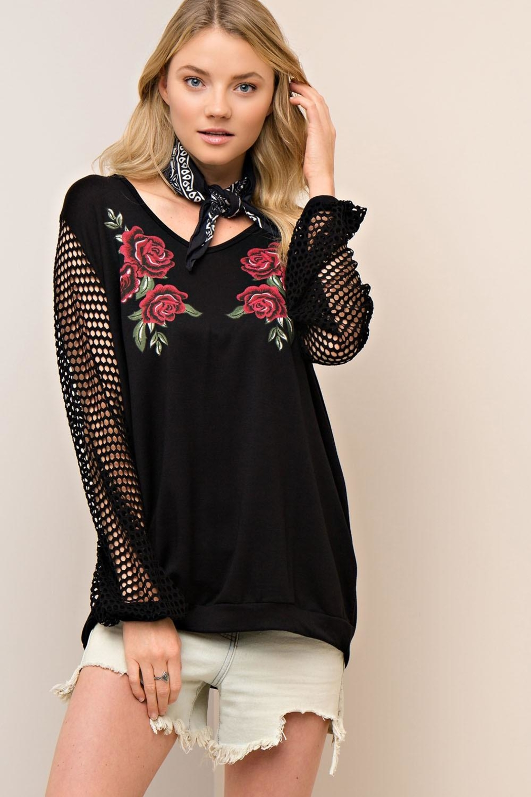 People Outfitter Sundance Pullover Top - Front Cropped Image