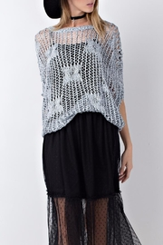 People Outfitter Sweater Crochet Top - Front full body