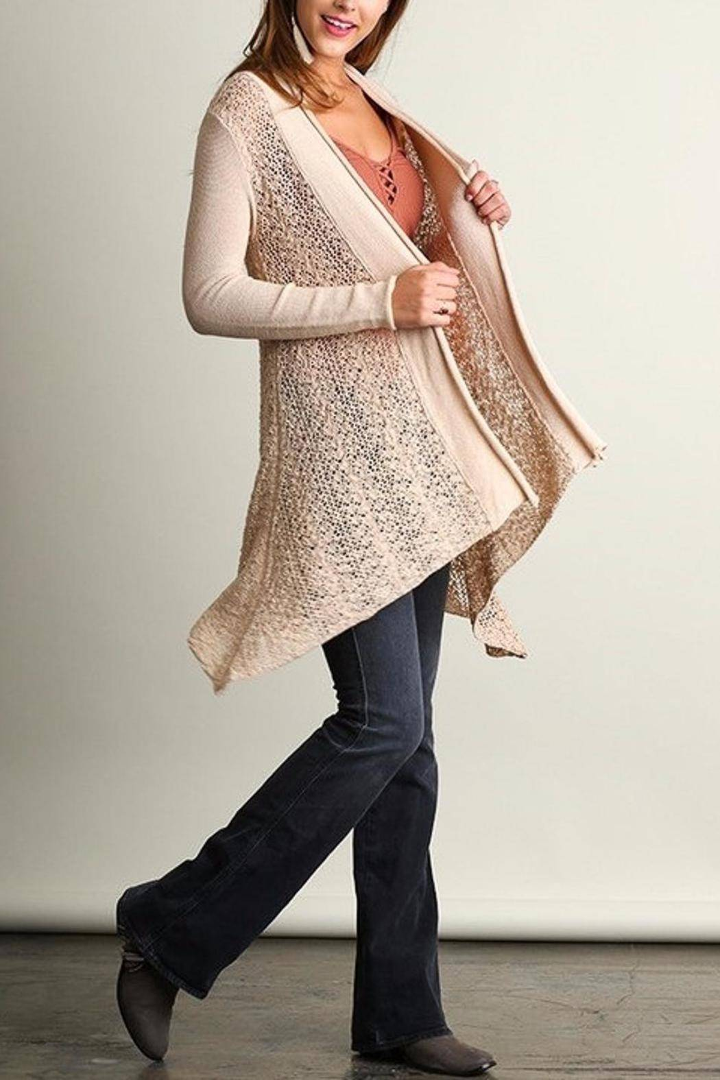 People Outfitter Sweater Knit Cardigan - Side Cropped Image