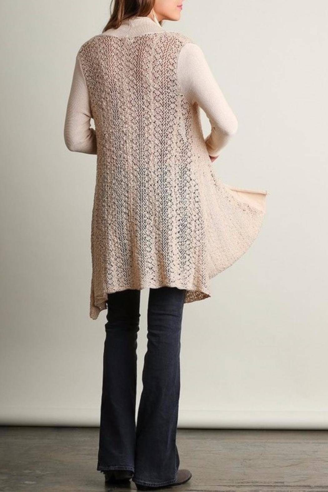 People Outfitter Sweater Knit Cardigan - Back Cropped Image