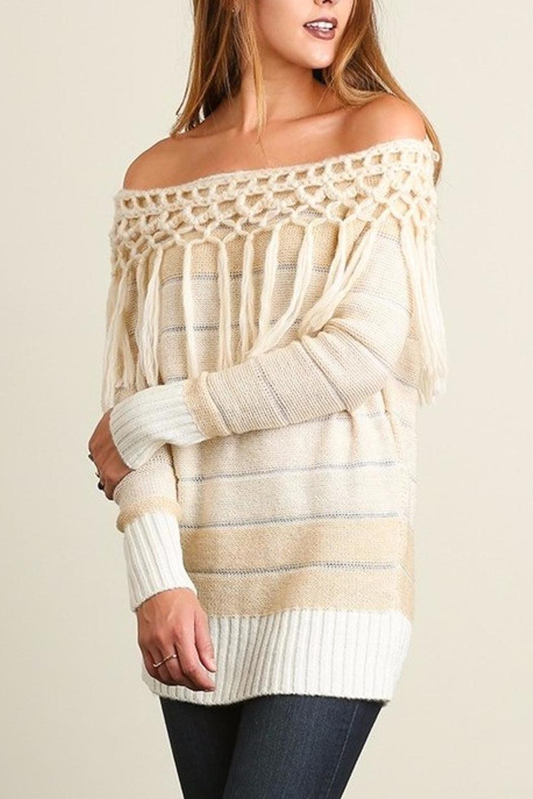 People Outfitter Tassels Tunic Sweater - Main Image