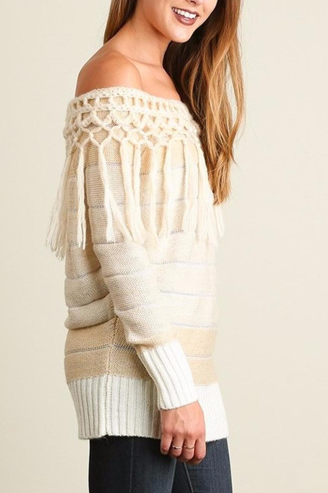 People Outfitter Tassels Tunic Sweater - Side Cropped Image
