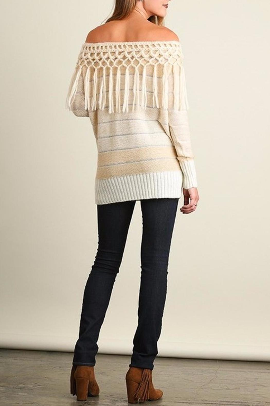 People Outfitter Tassels Tunic Sweater - Back Cropped Image