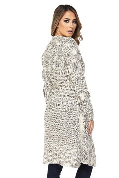 People Outfitter Taupe Ivory Chunky Knit Cardigan - Alternate List Image