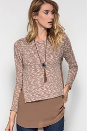 People Outfitter Taupe  Knit Tunic Top - Product Mini Image
