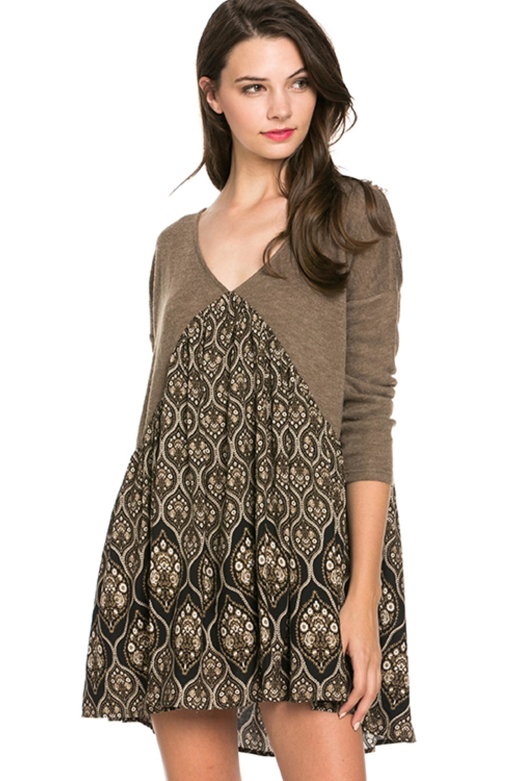 People Outfitter Taupe Tunic Dress - Main Image