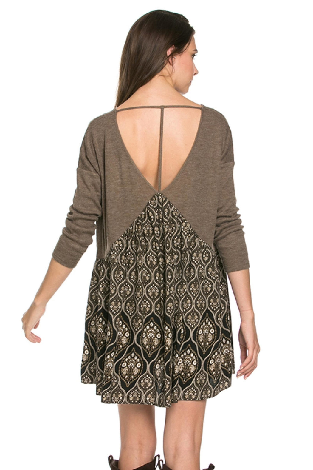 People Outfitter Taupe Tunic Dress - Side Cropped Image