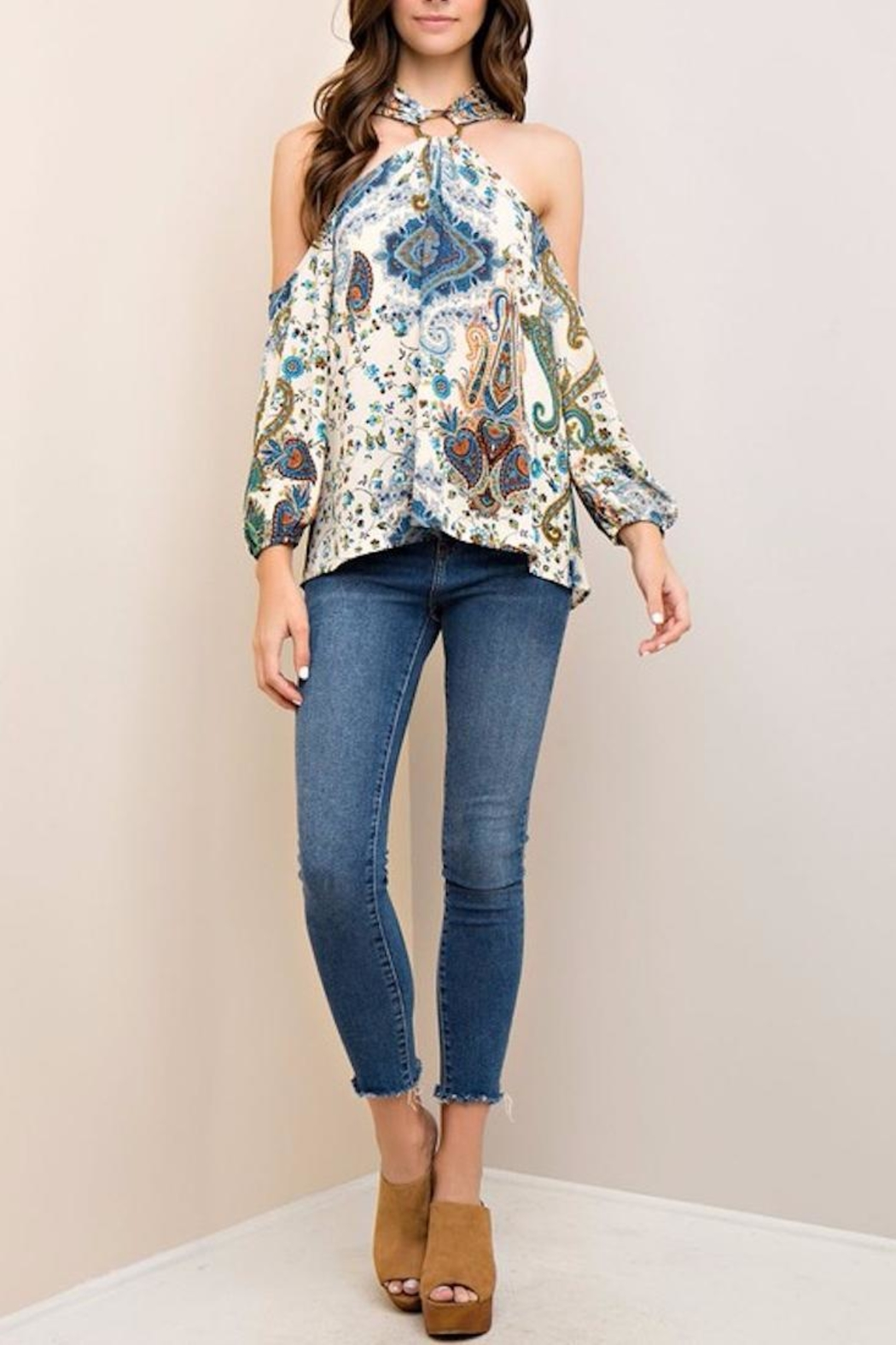 People Outfitter Limelight Paisley Top - Main Image